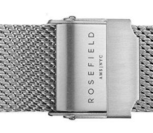Rosefield Tribeca Mesh Silver Strap