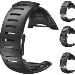 Suunto Pryžový řemínek k hodinkám Core černý se stříbrnou sponou light