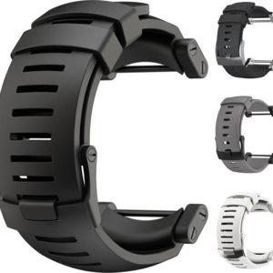 Suunto Silikonový řemínek k hodinkám Core bílý se stříbrnou sponou