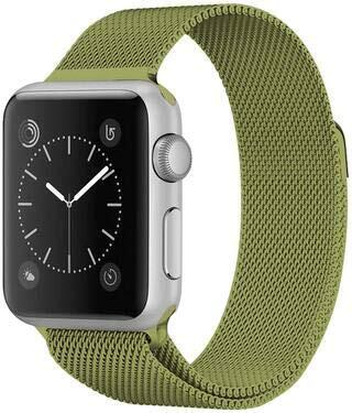 4wrist Ocelový milánský tah pro Apple Watch - Limetkový 42/44 mm