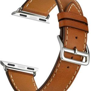 4wrist Kožený řemínek pro Apple Watch - Hnědý 38/40 mm