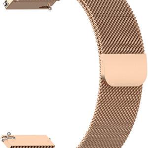 4wrist Milánský tah - Růžově zlatý 22 mm