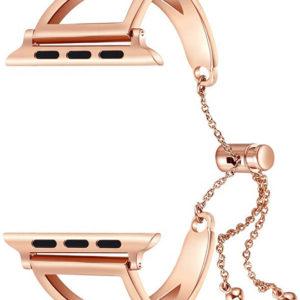 4wrist Nastavitelný ocelový tah pro Apple Watch - Růžové zlato 42/44 mm