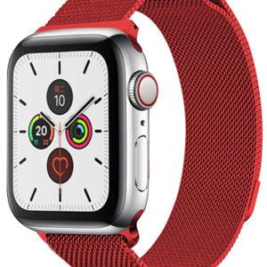 4wrist Ocelový milánský tah pro Apple Watch - Červený 42/44 mm - SLEVA