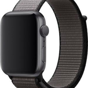 4wrist Provlékací sportovní řemínek pro Apple Watch - Černá/Šedá 42/44 mm