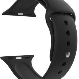 4wrist Silikonový řemínek pro Apple Watch - Černý 42/44 mm - M/L