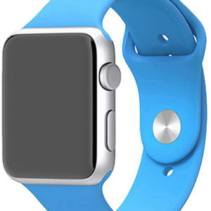 4wrist Silikonový řemínek pro Apple Watch - Světle modrý 42/44 mm - S/M