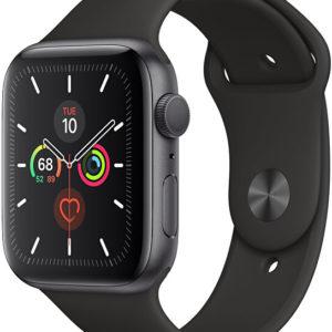 Apple Watch Series 5 40mm vesmírně šedý hliník s černým sportovním řemínkem - SLEVA