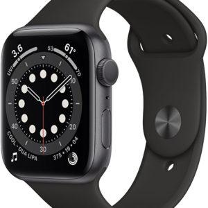 Apple Watch Series 6 40mm vesmírně šedý hliník s černým sportovním řemínkem