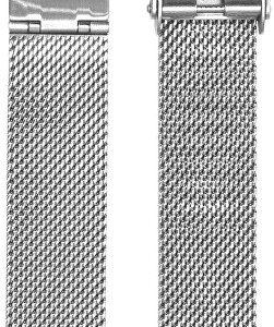 Bentime Kovový mesh s easy clickem - stříbrný 20 mm