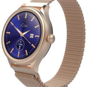 Forever Chytré hodinky Forever Icon AW-100 AMOLED zlaté