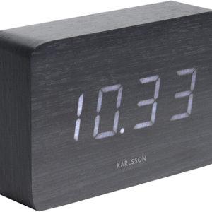 Karlsson Designový LED budík - hodiny KA5653BK