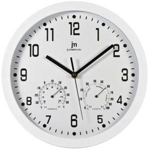 Lowell Nástěnné hodiny s teploměrem a vlhkoměrem 14944B