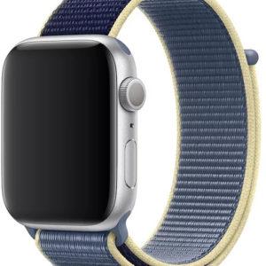 4wrist Provlékací sportovní řemínek pro Apple Watch - Seversky modrý 42/44 mm