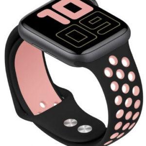 4wrist Silikonový řemínek pro Apple Watch - Černá/Světle růžová 42/44 mm